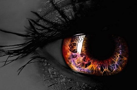BEAUTIFUL EYE - eye, black, white, zrachek