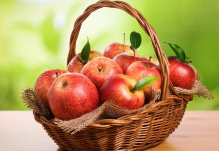 * Basket of fresh apples * - fruit, fresh, tasty, basket, apples