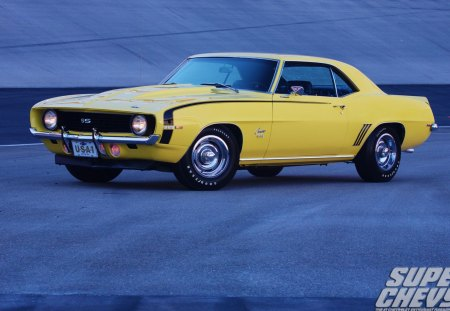 69   SS  396 - gm, bowtie, classic, yellow