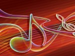 Music notes neon
