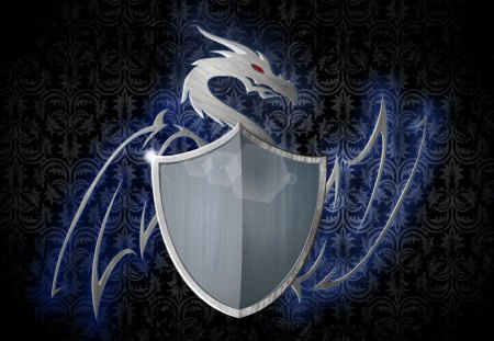 heraldry - heraldry, shield, grunge, dragon, victorian background