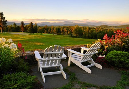 Garden Chairs Mountains Nature Background Wallpapers On Desktop Nexus Image 1196002