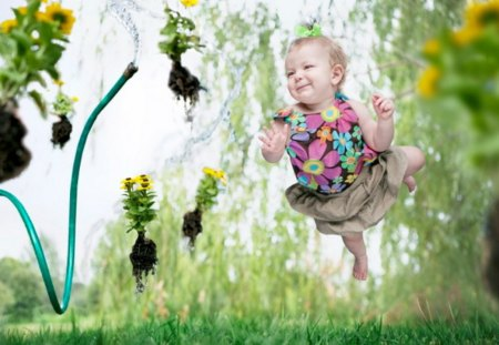 Levitation-Baby - cute, photo, nice, baby