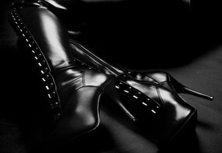 Fetish Boots - boots, heels, fetish, other, leather, sexy, buttons