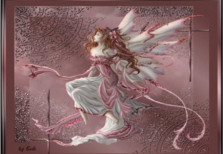 Mystical Fairy - art, elegant fairy, frame