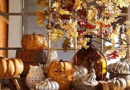 Autumn decorations - photography, decorations, still life, autumn