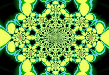 Bubble Kaleidoscope 6 - kaleidoscope, flower, fractal, bubble