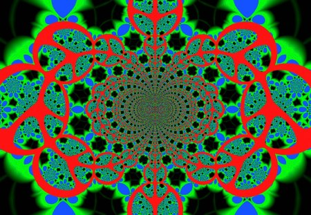 Peace and Love Kaleidoscope - kaleidoscope, mirror, love, peace