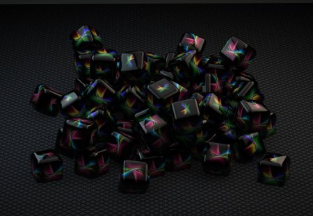 Cubee - cube, wallpaper, abstract, c4d