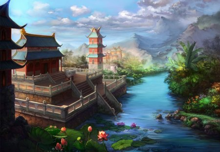 Jade Dynasty - art, jade, dynasty, cg