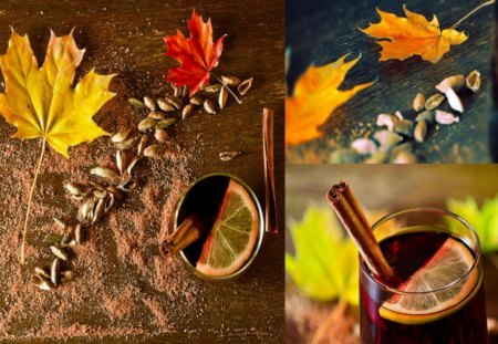 Autumn - leaves, cinnamon, seed, tea, delight, leaf, autumn