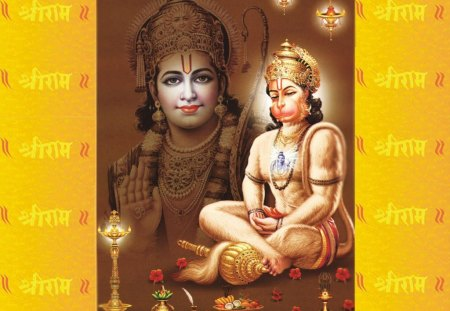 Shri ram and lord hanuman - spiritual, ram, devotional, hanuman