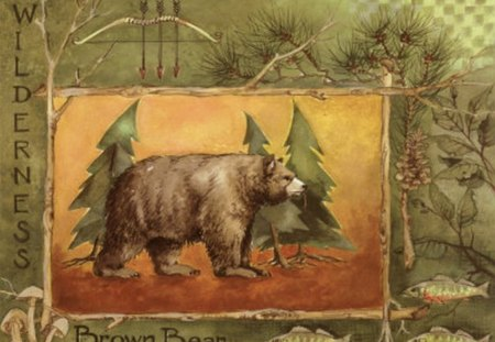 NORTHWOODS SPIRIT 1 - wisconsin, pine tree, bear, northwoods
