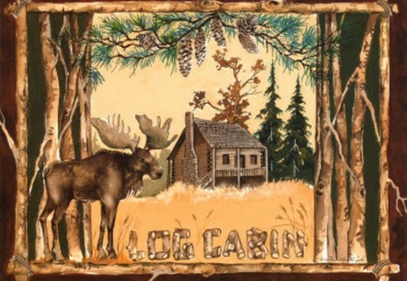 NORTHWOODS SPIRIT 3 - moose, wisconsin, log cabin, northwoods