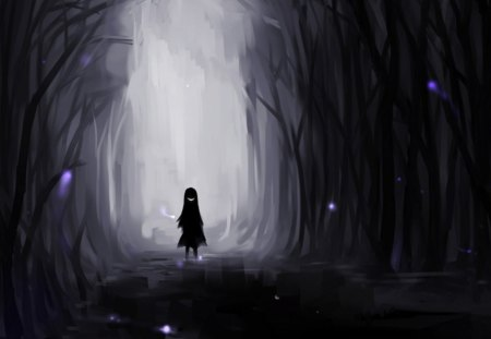 Girl in the dark other anime background wallpapers on - Dark anime girl pics ...