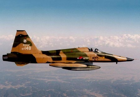 Northrop F5 A Freedom Fighter ( South Korea ). - northrop, jet fighter, rokaf, freedom fighter, south korea, f5 a