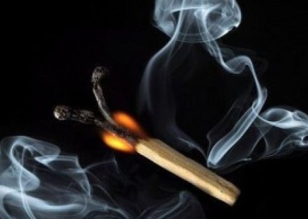 creative matchstick - creative, smoke, flame, collage, matchstick