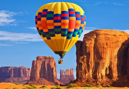 Hot air balloon - aircraft, hot, air, ballon, canyons