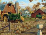 Rustic Farm in Autumn