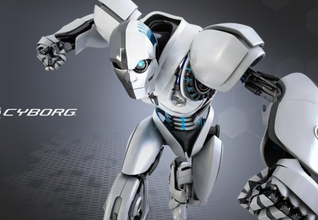 Cyborg - cyborg, gaming, robot, mouse