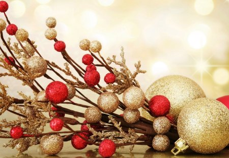 Holiday balls - decoration, holiday, christmas, ball