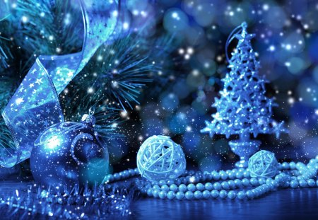 Blue christmas photography abstract background - Is blue a christmas color ...