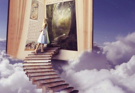 the magic of books.... - Fantasy & Abstract Background ...