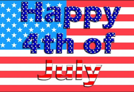 Happy 4th! - holidays, happy 4th of july, stars, 4th of july, stripes, celebrations, happy fourth of july, forth of july, america, flag