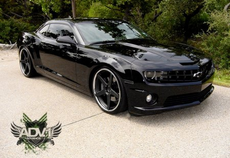 black on black camaro chevrolet cars background. Cars Review. Best American Auto & Cars Review