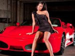 A Babe and her Ferrari