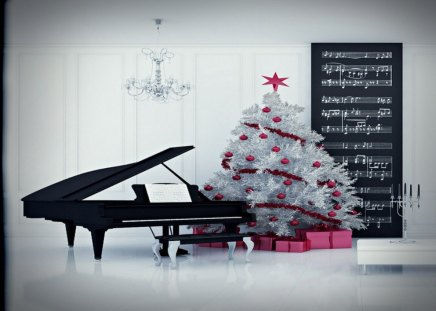 christmas piano wallpaper - photo #18