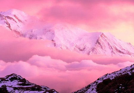 pink snow mountain wallpaper - photo #1