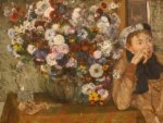 Edgar Degas - Woman Sitting beside a Vase of Flowers