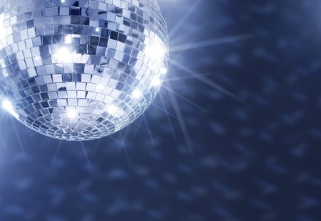 Disco Ball - ball, blue, glitter, night, party, mirror, disco, music, mirrors, disco ball, lights