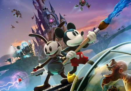 Epic Mickey 2 - xbox 360, ps3, warren spector, mickey, junction point, epic mickey 2, wii, disney, game, epic mickey