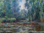 Claude Monet - Bridge over Water Lily Pond