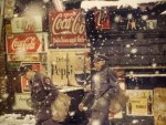 Saul Leiter - Postmen with Coca Cola Signs (1952)