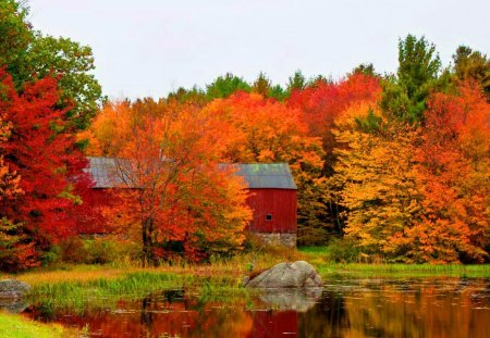 Fall Barn Other Amp Nature Background Wallpapers On