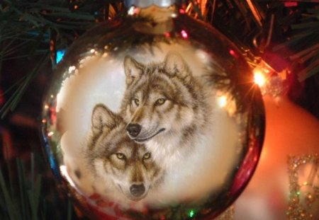 Christmas Wolf - Other & Animals Background Wallpapers on Desktop ...