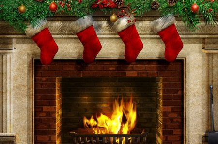Christmas Fireplace Other Amp Abstract Background