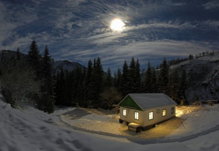 Good night winter nature background wallpapers on - Good night nature pic ...