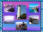 Lighthouses collage
