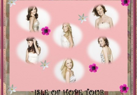 Celtic Woman wallpaper - celtic woman, flowers, wallpaper, frame, pink, background