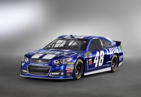 Lowes - blue, gm, bowtie, nascar