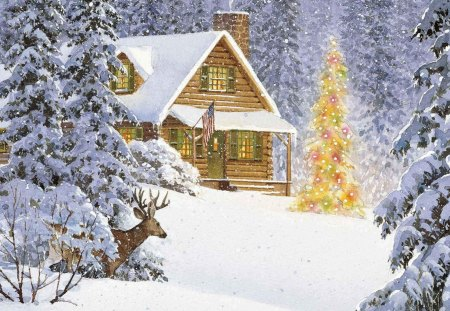 Christmas Scene - Photography & Abstract Background Wallpapers on ...