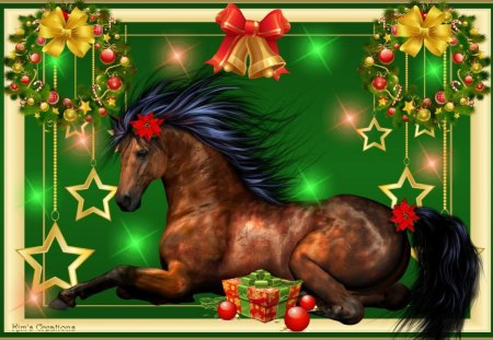 A Horse For Christmas - 3D and CG & Abstract Background Wallpapers ...