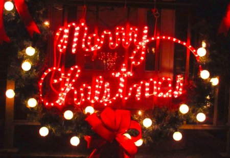 Merry Christmas - greeting, lights, merry christmas, christmas, ornaments,  decorstions,