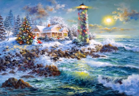 Sea Christmas Other Abstract Background Wallpapers On