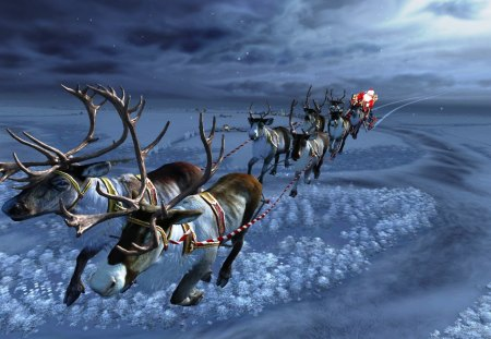 Santa's Sleighride - Other & Abstract Background Wallpapers on ...