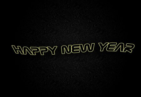 Happy New Year - background, abstract, new year, holidays